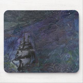 De donkere Collage Mousepad van het Schip van de H Muismat
