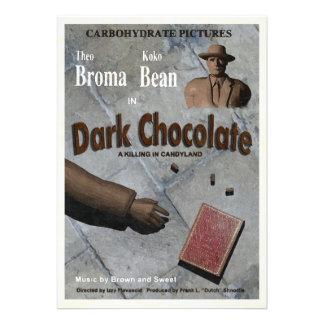 De donkere Film van de Chocolade Aankondiging