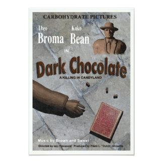 De donkere Film van de Chocolade 12,7x17,8 Uitnodiging Kaart
