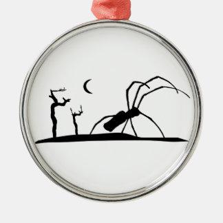 De donkere Grafische Illustratie van de Stijl van Zilverkleurig Rond Ornament