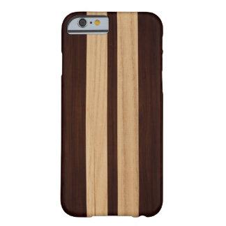 De donkere Houten Strepen van het Rozehout - de Barely There iPhone 6 Hoesje