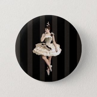 De Donkere Kleuren van de vintage Ballerina Ronde Button 5,7 Cm