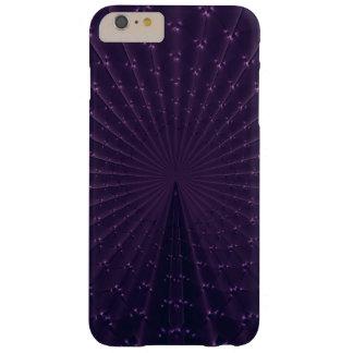 De donkere Paarse Fractal Veren van de Pauw Barely There iPhone 6 Plus Hoesje