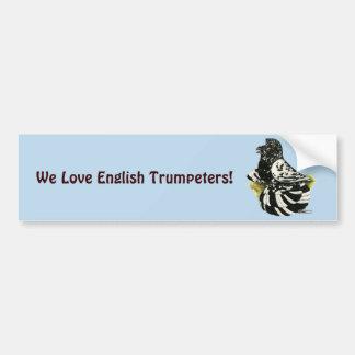 De Donkere Plons van de Duif van de trompetter Bumpersticker