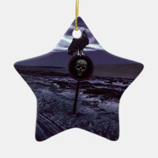 De Donkere Scène van de Weg van de dood Keramisch Ster Ornament