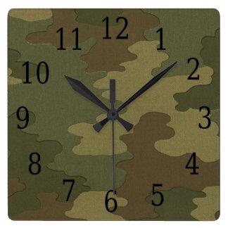 De donkere Vierkante Klok van de Camouflage