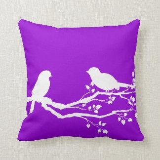 De donkere Violette Vogels van het Land Sierkussen
