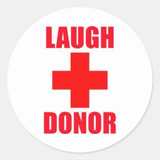 De Donor van de lach Ronde Sticker
