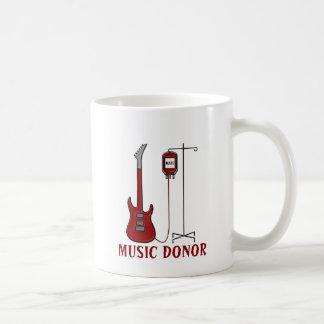 De Donor van de muziek Koffiemok