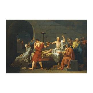 De dood van Socrates door Jacques-Louis David 1787 Canvas Afdruk