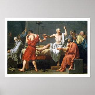 De dood van Socrates door Jacques-Louis David Poster