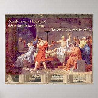 De dood van Socrates - ik ken niets Poster