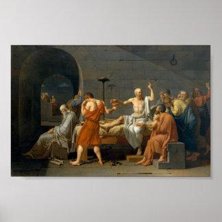 De dood van Socrates - Jacques-Louis David Poster