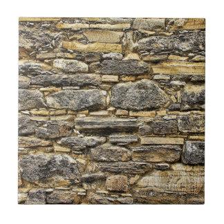 De doorstane Textuur van de Muur van de Steen Oude Keramisch Tegeltje