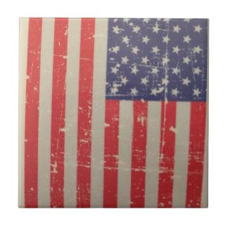 De doorstane, Verontruste Amerikaanse Vlag van de Keramisch Tegeltje