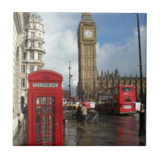 De doos & Big Ben van de Telefoon van Londen (St.K Tegeltje