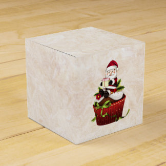 De Doos van de Gift van Cupcake van de kerstman Bedankdoosjes