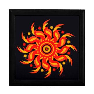 De Doos van de Gift van de Zon van de middernacht Decoratiedoosje