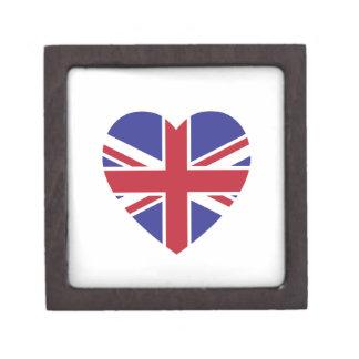 De Doos van de Gift van het Hart van Union Jack Premium Cadeau Doosje
