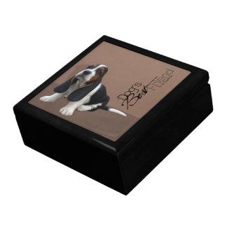 De Doos van de Gift van het Puppy van Basset Hound Decoratiedoosje