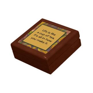 de doos van de kop theegift decoratiedoosje