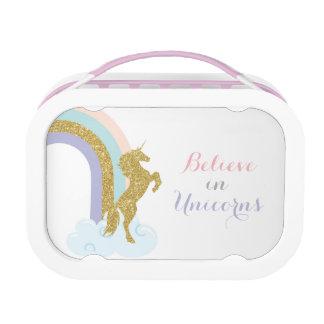 De doos van de Lunch van de eenhoorn, de doos van Lunchbox