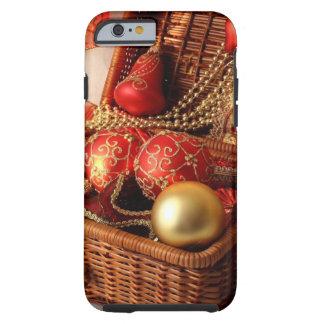 De doos van Kerstmis - de decoratie van Kerstmis Tough iPhone 6 Hoesje