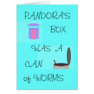 De DOOS van PANDORA - alle-gelegenheidskaart Kaart