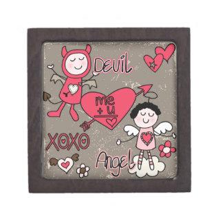 De Doos van Valentijn van de duivel en van de Premium Cadeau Doosje