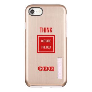 De douane denkt buiten doosmonogram incipio DualPro shine iPhone 8/7 hoesje