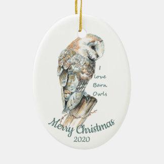 De douane Gedateerde Vogel van de Uil van de Keramisch Ovaal Ornament