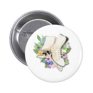 De Douane Giftware van de Kunstschaatsen van de Ronde Button 5,7 Cm