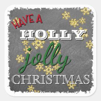 De douane heeft heel Kerstmis van de Hulst op Bord Vierkante Sticker
