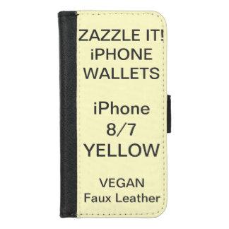 De douane personaliseerde GELE iPhone 8/7 Spatie iPhone 8/7 Portemonnee Hoesje