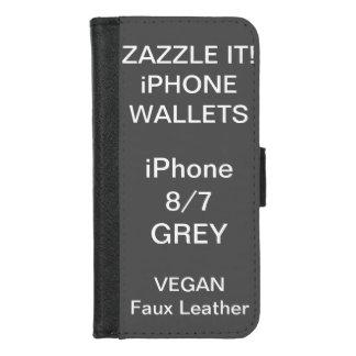 De douane personaliseerde GRIJZE iPhone 8/7 Spatie iPhone 8/7 Portemonnee Hoesje