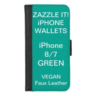 De douane personaliseerde GROENE iPhone 8/7 Spatie iPhone 8/7 Portemonnee Hoesje