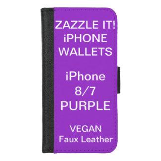 De douane personaliseerde PAARSE iPhone 8/7 Spatie iPhone 8/7 Portemonnee Hoesje