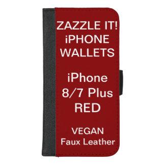 De douane personaliseerde RODE iPhone 8/7 plus iPhone 8/7 Plus Portemonnee Hoesje