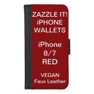 De douane personaliseerde RODE iPhone 8/7 Sjabloon iPhone 8/7 Portemonnee Hoesje