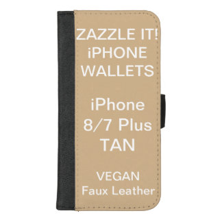 De douane personaliseerde TAN iPhone 8/7 plus iPhone 8/7 Plus Portemonnee Hoesje