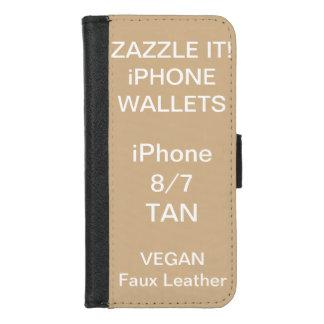 De douane personaliseerde TAN iPhone 8/7 Spatie iPhone 8/7 Portemonnee Hoesje