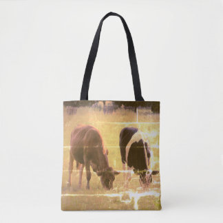 De Douane van de Fotografie van koeien helemaal Draagtas