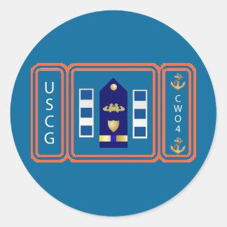 De Douane van de Kustwacht van de V.S. Ronde Sticker