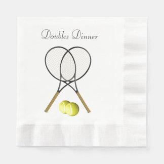 De Douane van de Sport van het Tennis van dubbelen Wegwerp Servet