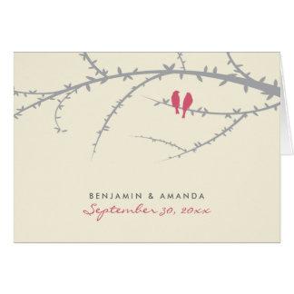 De Douane van de Vogels van de liefde dankt u Briefkaarten 0