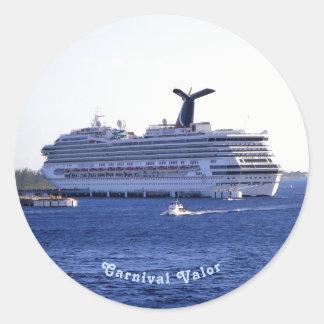 De Douane van het Bezoek van het Schip van de Ronde Sticker