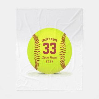 De Douane van het Team van het softball Fleece Deken