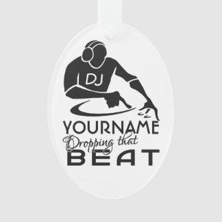 De douanekleur van DJ & monogramornament Ornament