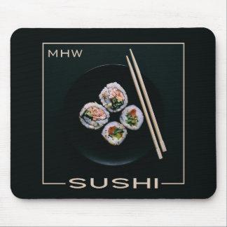 De douanemonogram van sushi mousepad muismatten