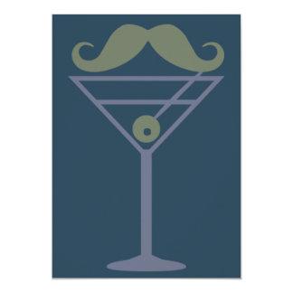 De douaneuitnodiging van de Snor van martini Kaart